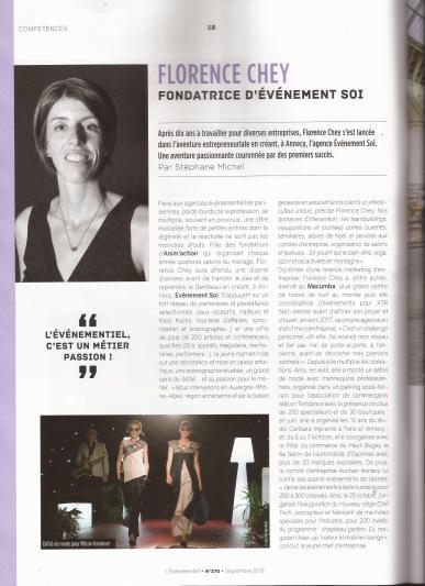 Focus sur Florence Chey, fondatrice d'Evènement Soi. Magazine L'Evènementiel.